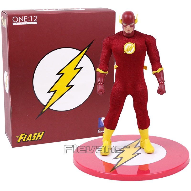 MEZCO DC COMICS The Flash 1/12 Scale PVC Action Figure Collectible Model Toy 16cm image