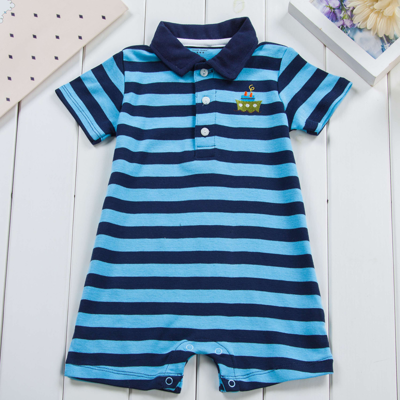 Baby rompers summer baby boy clothes newborn boys short sleeve Baby clothes childrens Clothes Babys Sets
