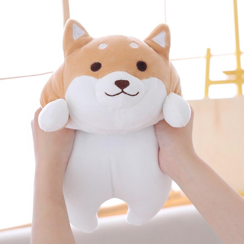 55cm Cute Fat Shiba Inu Dog Plush Toy Stuffed Soft Kawaii Animal Cartoon Pillow Lovely Gift For Kids Baby Children Good Quality