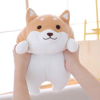 55cm Cute Fat Shiba Inu Dog Plush Toy Stuffed Soft Kawaii Animal Cartoon Pillow Lovely Gift for Kids Baby Children Good Quality stuffed toy