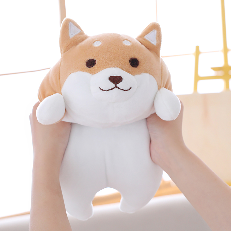 55cm Cute Fat Shiba Inu Dog Plush Toy Stuffed Soft Kawaii Animal Cartoon Pillow Lovely Gift for Kids Baby Children Good Quality 68cm kawaii bull terrier dog plush kids toy emoji sleeping pillow toy cute soft baby toys stuffed dolls for children girl gifts