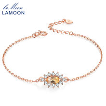 LAMOON Charm Bracelet S925 sterling-silver-jewelry Marquise