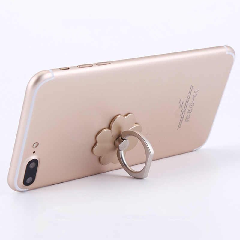 Jari Cincin Ponsel Stand Smartphone Holder untuk iPhone X Huawei Samsung Cell Smart Cincin Telepon Bulat Pemegang Mobil Gunung berdiri