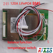 Battery-Cell W/Balance 18650 Lifepo4 for 24-Packs W/temp 24S PCM/PCB 120a-Version