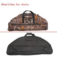 95/115cm Archery Compound Bow Bag Padded Layer Foam Bow Holder Arrow Tube Camouflage Compound Bow Case arco e flecha