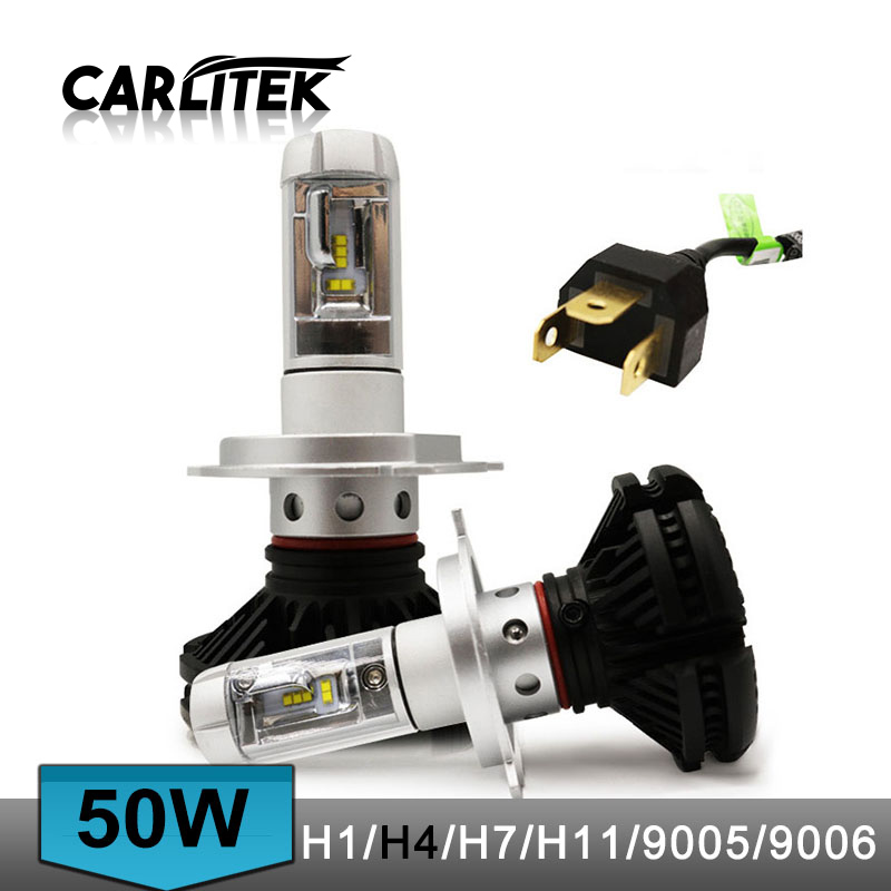 2Pcs 9005 HB3 9006 HB4 H11 H4 H7 Led H1 Auto Car Headlight 50W 6000LM 6500K Automobile Bulb All In One CSP Lumileds Lamp
