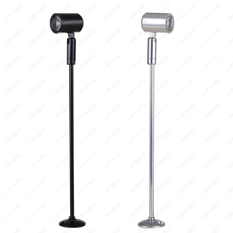 Light Stand Pole: 3W LED Picture Light Table Stand Pole Lamp Spotlight With