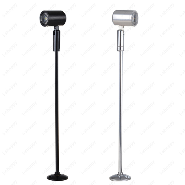 3W LED Picture Light Table Stand Pole Lamp Spotlight With Base  Jewelry/Phone Store Showcase