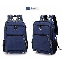 Купить с кэшбэком Women Backpack Men Bookbag 2019 Fashion Multifunctional Oxford Casual Laptop Backpack School Usb Charge Waterproof Travel Bags