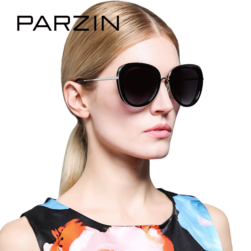 PARZIN Brand 2017 Women TR90 Polarized Sunglasses Colorful Ultra Light Retro Luxury Brand Designer Sun Glasses