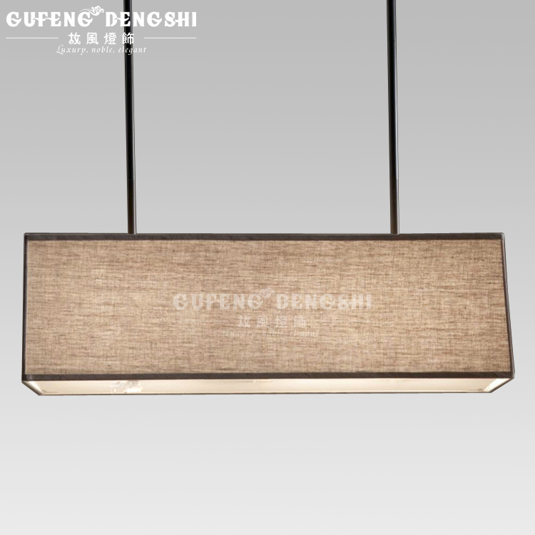 Nordic Ikea Rectangular Chandelier Lighting Simple And Stylish Restaurant With A European Style Fabric Lampshade Hotel Project L In Chandeliers From Lights
