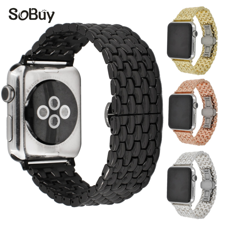 So buy alloy stainless steel Link bracelet for apple watch iwatch sport 1/2/3 series band 42mm/38mm wirst strap metal watchband