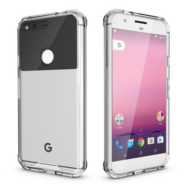 Clear Case For Google Pixel Hard Acrylic Tough Armor Shell Shockproof Phone Covers HTC Pixel 5.0 Crystal Back Transparent Capa