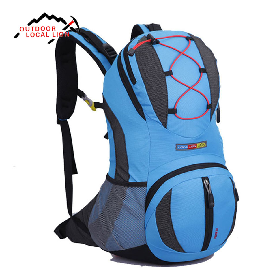 LOCAL LION 22L Outdoor Backpack Hydration Climbing Bag Pack Sport Bags Rucksack Hiking Camping Travel Mountaineering Bag