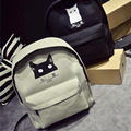 In 2016, the new backpack backpack Institute of wind travel bags of casual canvas bag of women's fashion black white