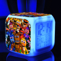 FNAF game Five Nights at Freddy Freddys bear toys colorful LED ledclock pattern  action toys figure touch light Christmas gift