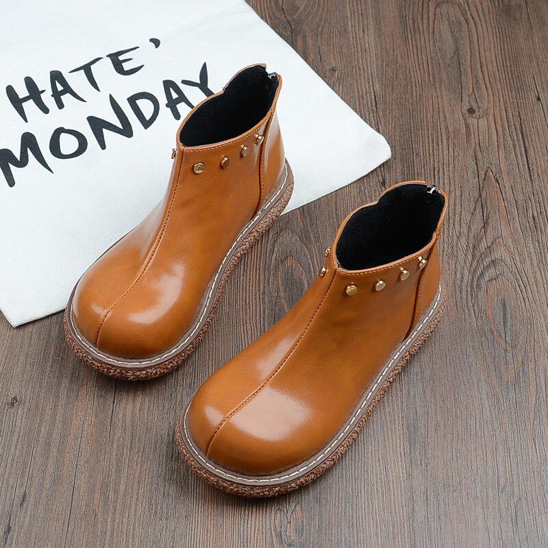 Japonais rétro chaussures de femmes mori à fond épais tête ronde poupée chaussures Harajuku vent Muffin étanche chaussons sauvage femmes bottes