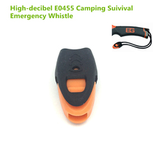 E0437 high decibel Whistles Nylon Outdoor Lifesaving Whistle Camping Suivival Tactical Emergency For Hiking