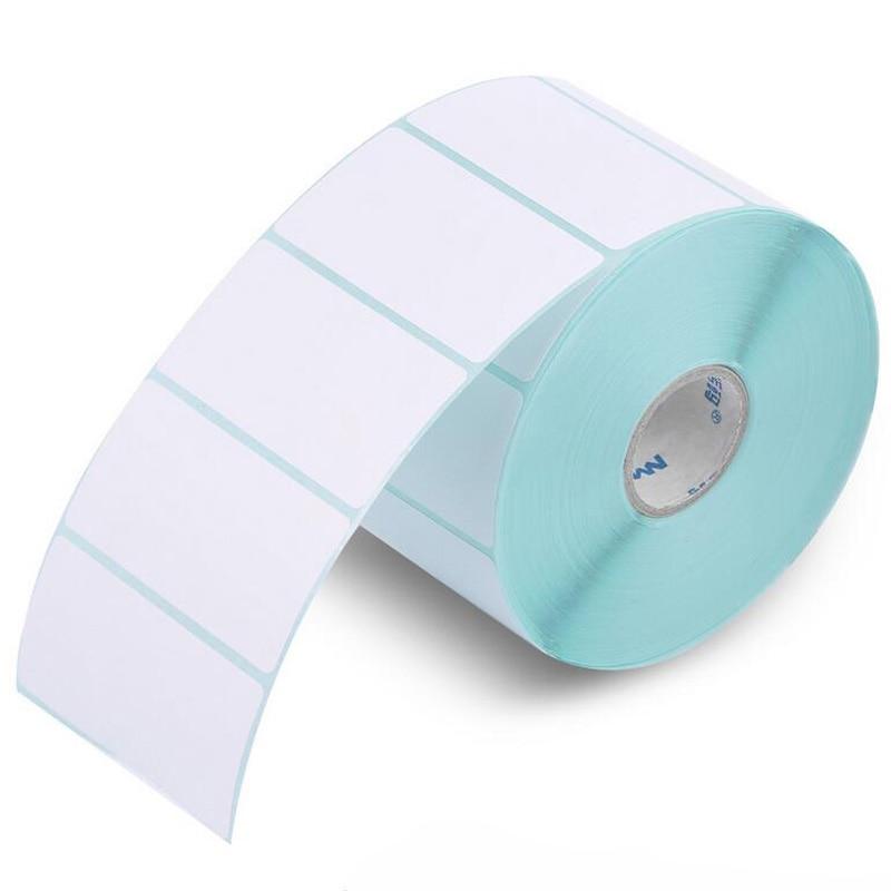HPRT label thermal printing paper 60*30*1250PCS Waterproof bar code printing paper Sticker label printing paper supermarket direct thermal printing label code printer