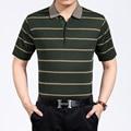 Мода Полосатый мужская polo рубашка Хлопка Высокого качества camisa homme повседневная slim с коротким рукавом поло мужчины 2017 летом новый плюс размер