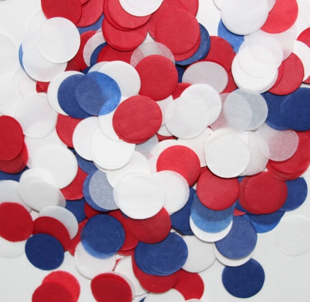 50g 2 inch 5cm Navy Blue Red and White Birthday Decorations