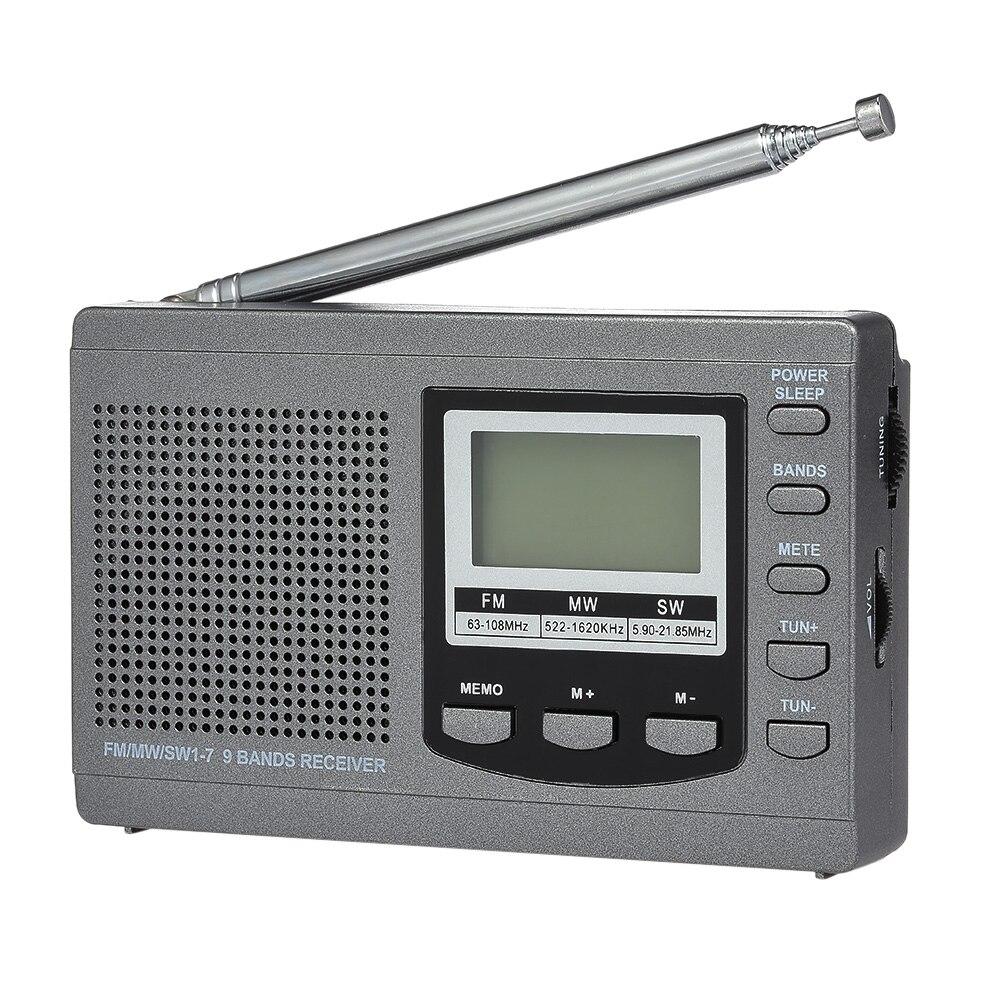 Unterhaltungselektronik Herzhaft Fm/am/sw Radio Multiband Digital Stereo Radio Receiver Kopfhörer Ausgang Wecker Externe Drehbare Antenne Zeit Display Radio