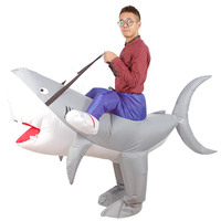 YHSBUY 2018 New Adult Shark Inflatable Clothing Brand Children Funny Cosplay Suits Halloween Party Toys for Teens,HZ030