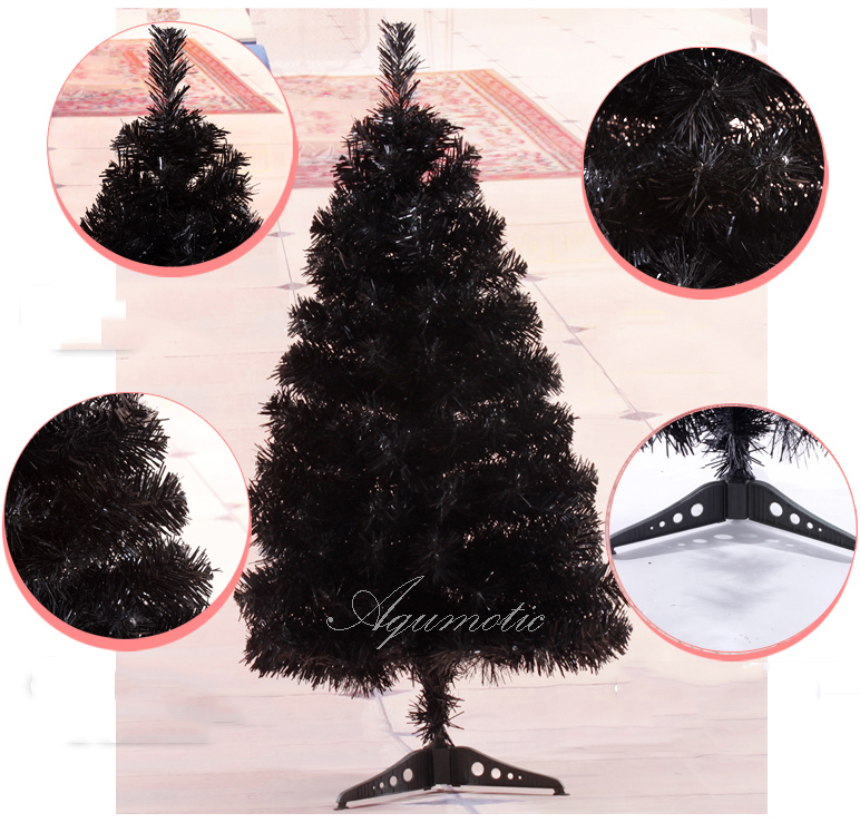 Aqumotic Black Christmas Tree Coloful Blue Christmas Tree Pink 2ft Christmas  Tree Home Tabletop Decor Ugly Christmas Tree In Figurines U0026 Miniatures From  ...