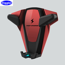 Qi Wireless di Ricarica Per Auto di Montaggio per Huawei Mate20Pro iphone XS MAX XR XS X 8 10W Carica Veloce Staffa