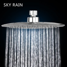 SKY RAIN Bathroom Adjustable 9 Inches ABS Plastic Polish Finished Wall Mounted Rainfall Round Shower Head стоимость