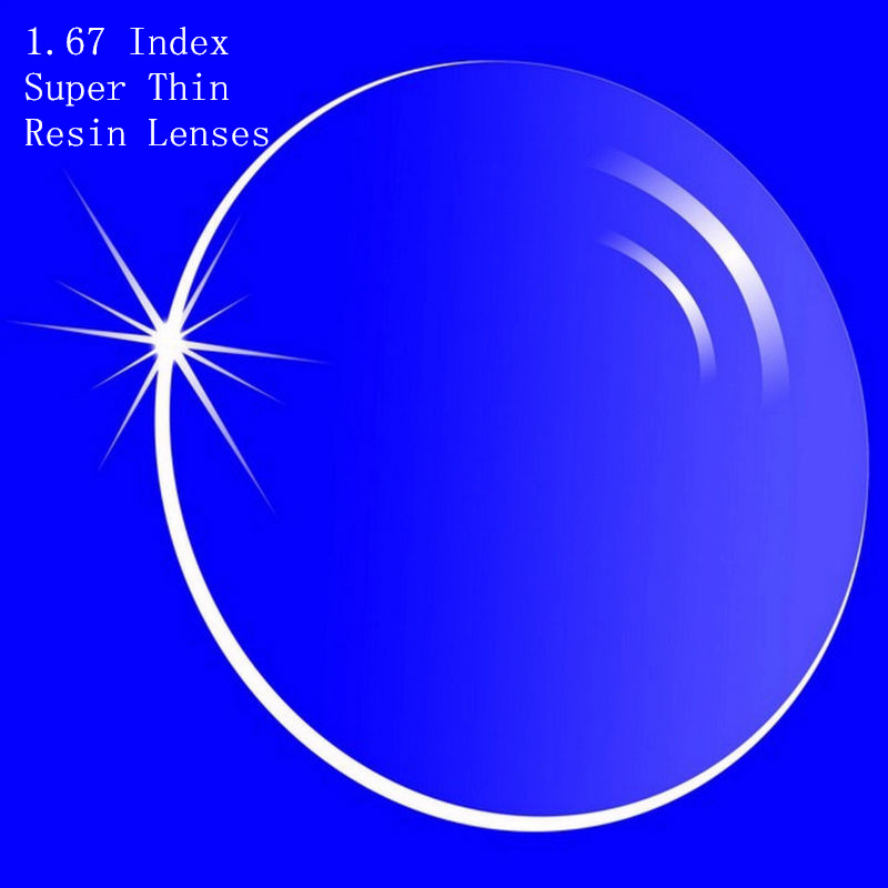 1.67 Index Prescription Lenses CR-39 Res