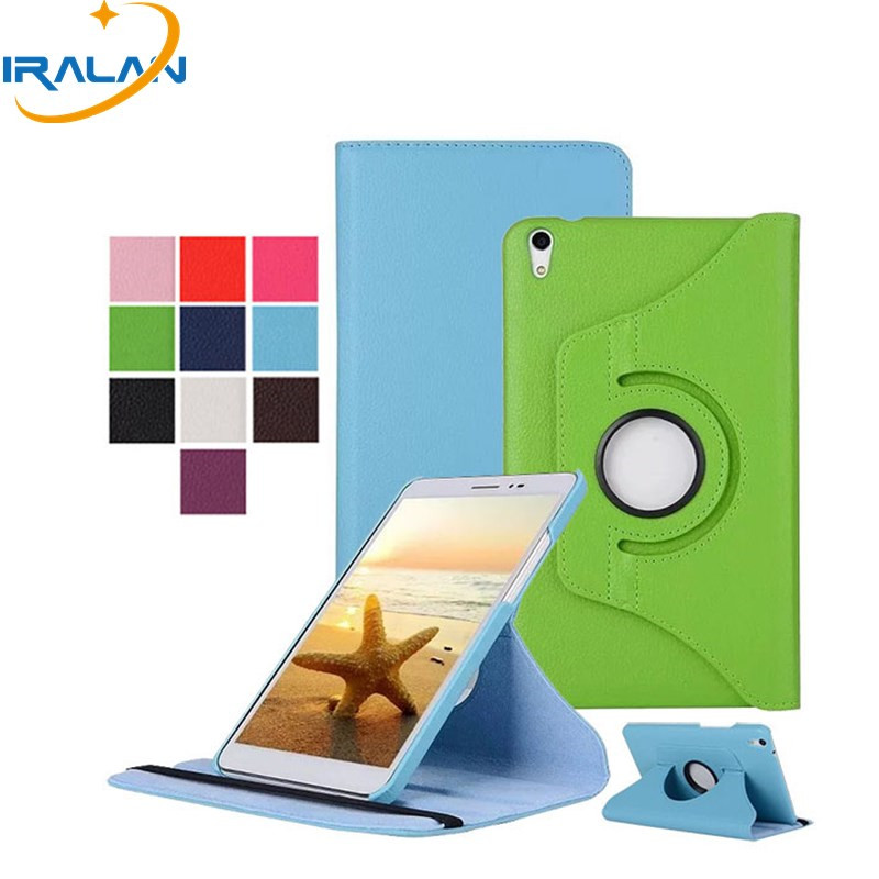 2018 360 Rotating Flip Stand PU Leather Case for Huawei MediaPad T2 8 Pro Magnetic Smart Cover for Huawei Honor Pad 2 8.0 inch