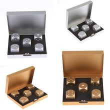 5PCs/Lot High Quality Aluminium Alloy Poker Dice Silver Gold Portable Dominoes Metal Dice Party Drinking Board Game Dice Set(China)