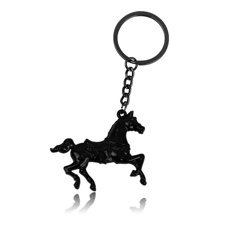 QCOOLJLY Cool Horse Animal Pet Keychain Keyring Classic 3D Pendant Key Bag Car Key Chain Creative Gift for Boyfriend Jewelry все цены