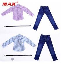 1/6 весы розово синяя полоска рубашки и джинсы одежда с поясом