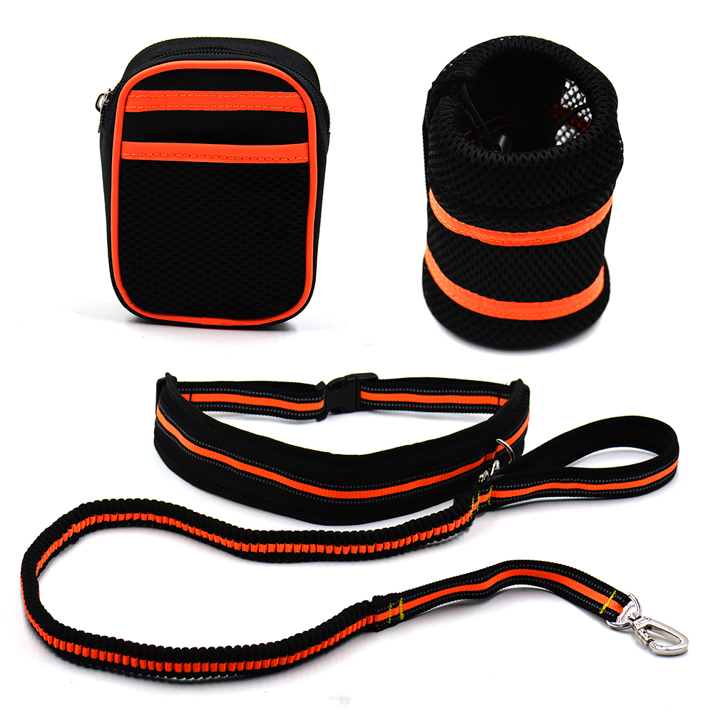 Hands Free Hipster Dog Leash Pouch/Waist Bags hands free dog leash for small pets dog Running Lead Rope leash for dog jogging