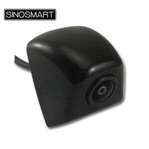 Image 3 - SINOSMART, en Stock, ángulo de vista panorámica, cámara de estacionamiento Universal, respaldo de marcha atrás para coche, entrada de 5V 28V CC con 7 colores opcionales