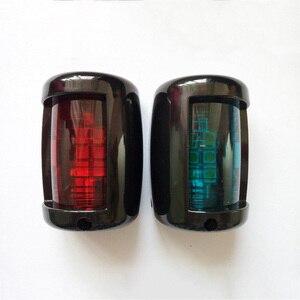 Image 5 - 1 zestaw czerwony zielony Port/na prawą burtę światła 12 V łódź morska jacht LED światło nawigacyjne