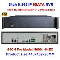 2U CCTV NVR H 265 H 264 64CH 4K 5MP 3MP 2MP 960P 720P 9HDD Interface
