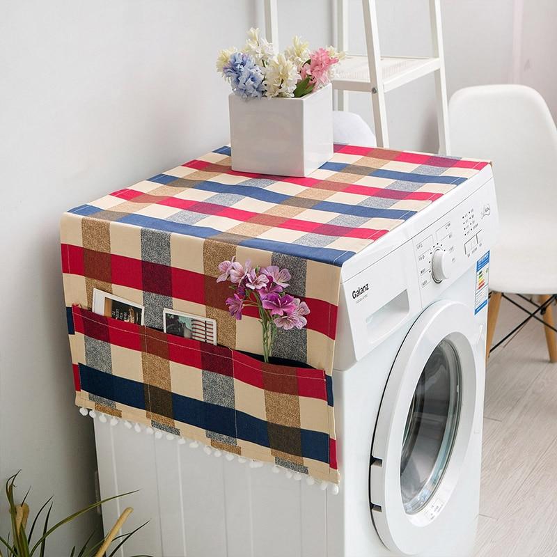 Геометрическая стиральная машина Пылезащитная Крышка для кухонного холодильника пылезащитные чехлы с сумкой для хранения чистящие аксессуары чехол - Цвет: K
