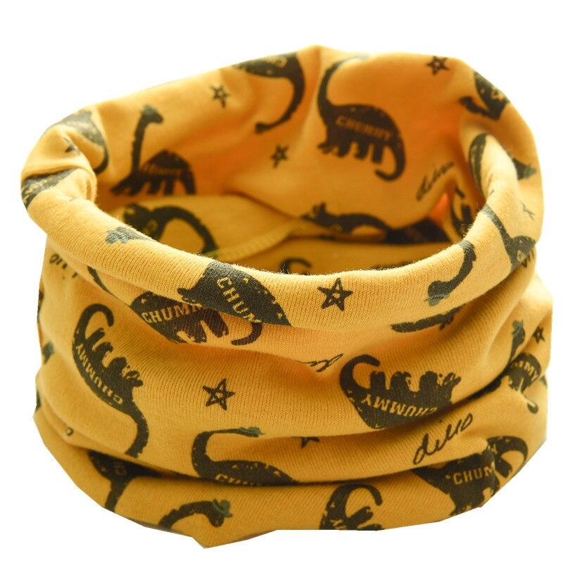 Осенне-зимний детский хлопковый плюшевый шарф, детский шарф для девочек, шарфы для мальчиков и девочек, детский воротник, детский волшебный шейный платок с круглым вырезом - Цвет: yellow dinasour