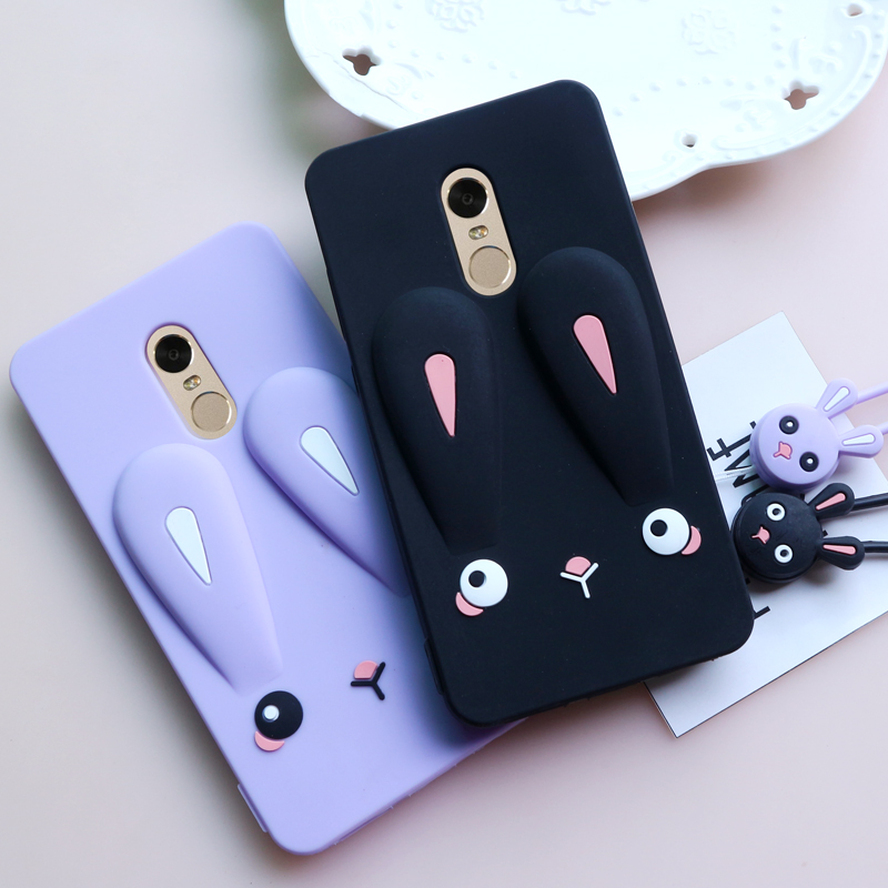 Redmi 4X note 4X note4 Case Cartoon Cute Rabbit ear Silicone back phone cover Case For