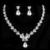 Nueva joyería de la boda Set cristal austriaco joyería nupcial fija para mujeres largo de la borla declaración NecklaceEarrings la corona
