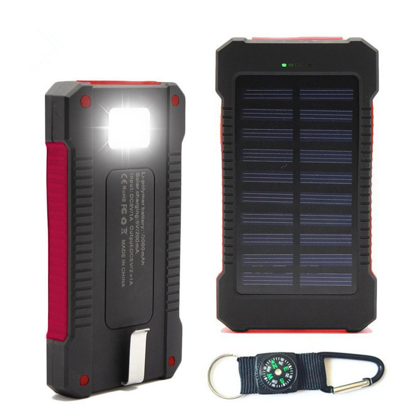 100% Quality Waterproof 50000mah Solar Panel Led Dual Usb Ports No Battery Diy Power Bank Case Battery Charger Kits Box Attractive Fashion Mobile Phone Accessories Cellphones & Telecommunications