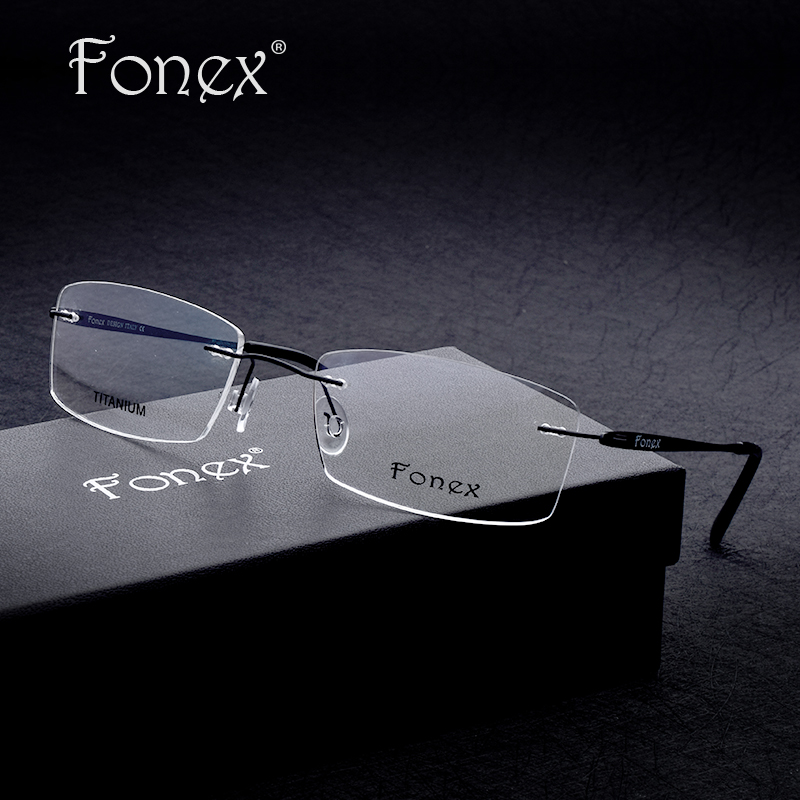Rimless Glasses With High Prescription : Titanium Flexible Eyeglass Frames Promotion-Shop for ...
