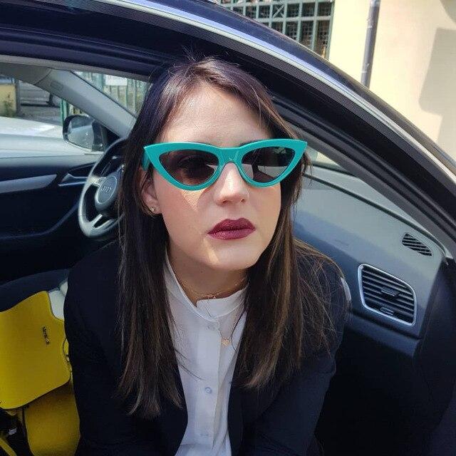 efa3222ad15a1 MINCL Marca de moda chique novo óculos de sol retro personalidade óculos  gatinho óculos de