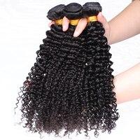 Mongolian Kinky Curly Hair 100 Human Hair Weave Three Bundles For Women Natural Hair Extension 10