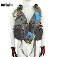 Gilet de pêche sac à dos sports de plein air sac à dos réservoir d'eau sac multi usages gilet de sauvetage sac à dos + gilet de sauvetage +