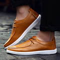 Genuine Leather Men Shoes 2016 Fashion Mens Shoes Casual Lace Up Men Flats zapatillas Zapatos hombre sapatos