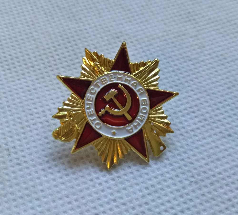Gold überzogene Ursprüngliche Russland Große Vaterländische Krieg 1 klasse UDSSR Sowjetische Russischen Militär auftrag medaille vergoldet